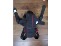 Baby Bjorn Active Baby Carrier Black & Red Back Support Good Condition