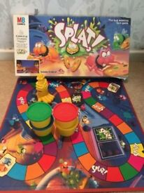 SPLAT bug squashing board game 1990s by mb games