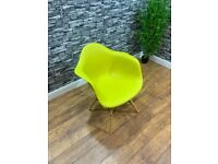 Contract Quality Contemporary Mustard Plastic Cafe Bistro Arm Chairs