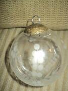 Heavy Glass Ornament