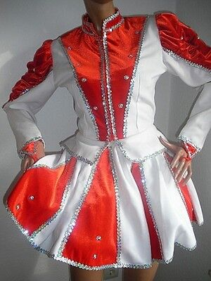 Arenz Samt Tanzmariechen Kostüm Gardekostüm Hologramm m gr. Strass Steinen - Hologramm Kostüm