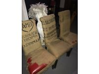 Coffee sack covered chair x 3 - Commercial grade - Designer cafe, bar furniture