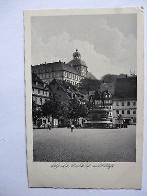 Ansichtskarte Weißenfels Marktplatz mit Schloß 1937 (Nr.616)