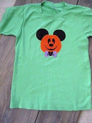 Custom Made Disney Mickey Mouse Not So Scary Halloween Shirt Top Girls 10-12