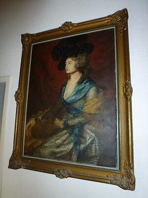KEIN VERSAND Kopie Gemälde Bild Öl Dame sig. Oskar Wilde 83cm gebraucht/G0.602.I