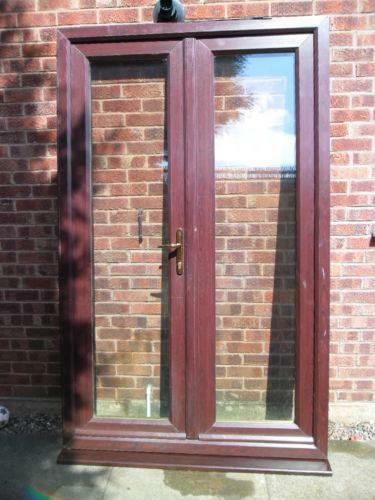 Used brown upvc doors ebay for Brown upvc patio doors