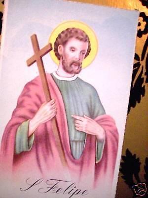 ST FELIPE / PHILIP - APOSTLE POST CARD SPANISH CATHOLIC