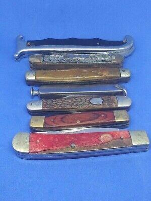 Vintage Pocket Knife Lot Boker/Camillus/Hammer With Bone Handle