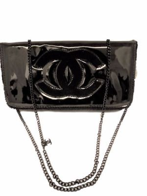Chanel VIP Black Shoulder Chain WOC Cross body