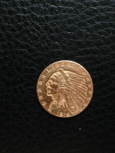 2 1 2 Dollar Indian Gold Coin Ebay