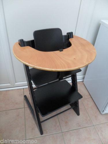 stokke wooden high chair ebay. Black Bedroom Furniture Sets. Home Design Ideas