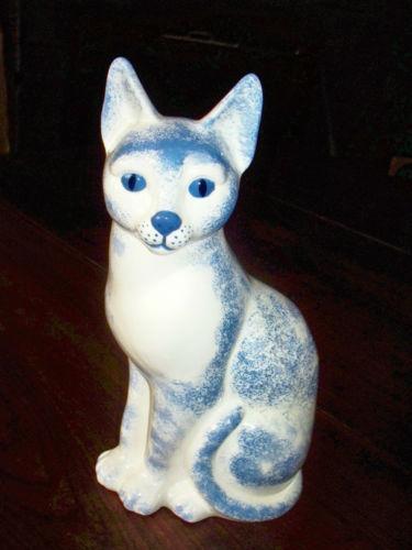 Tall Ceramic Cat Ebay
