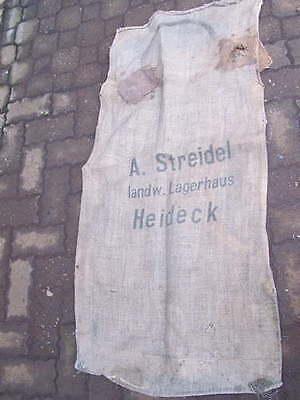 Großer Leinensack Mehlsack mit Aufdruck A.Streidel landw. Lagerhaus Heideck