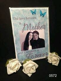 Personalised acrylic plaques