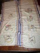 Vintage Embroidered Dish Towels