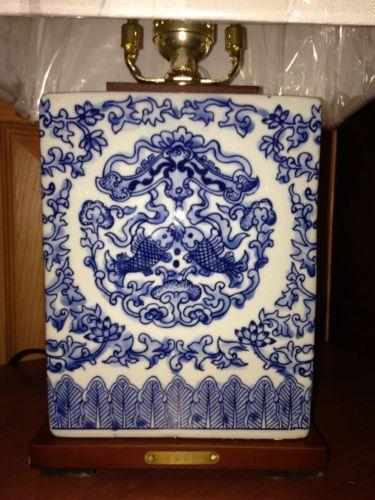 Ralph Lauren Blue White Lamp Ebay
