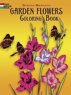 Coloring Book For Adults Garden Flowers Inspire Images Anti Stress Relaxing Fun
