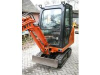 MINI DIGGER AND DRIVER HIRE PLYMOUTH