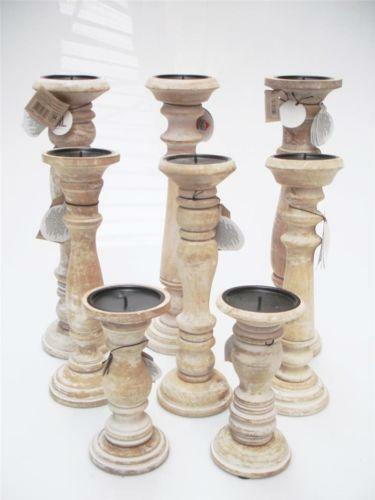 Church candle holder ebay for Diy wooden pillar candle holders