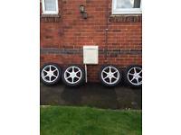 "Team Dynamics Alloy wheels 17"" inch x 7j 5x110 215 50 17 Saab 9-3 9-5 Alpha Romeo 159 giulia spider"