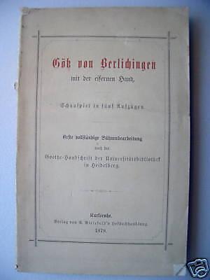 Götz von Berlichingen 1879 mit eisernen Hand Schauspiel