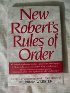 roberts rules of order newly revised 9th edition