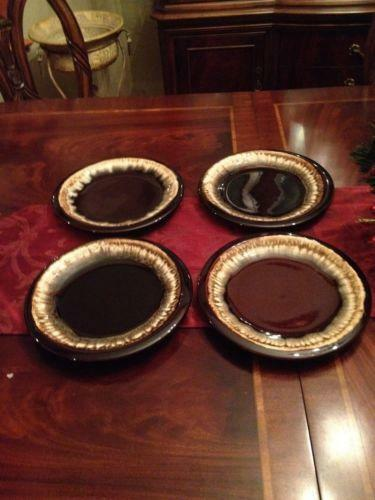 My Plates Texas >> Brown Drip Dinner Plates | eBay