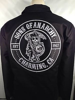 Authentic Sons Of Anarchy Charming Mechanic Quilted Lined Jacket M 2Xl