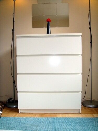 Ikea Malm Chest Of Drawers Dresser 4 Drawer