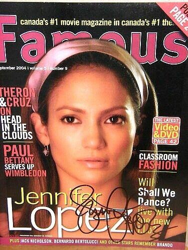 Jennifer Lopez  signed magazine  2004 Famous