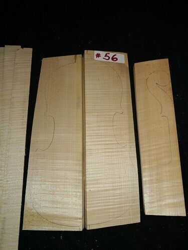 Curly Maple Tone Wood Lightly Flamed Two Piece SetFor Violin Making