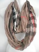 Brown Plaid Scarf