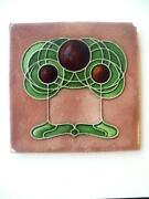 Antique Art Nouveau Tile