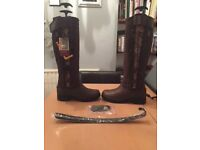 FOR SALE Thinsulate Ariat Grasmere H2O Real Leather Country Laced Up Long knee High Boots