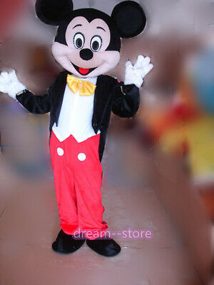Halloween Mascots Costumes (【TOP SALE】 NEW MICKEY MOUSE MASCOT COSTUME ADULT SIZE HALLOWEEN PARTY DRESS)