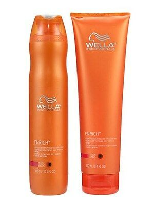 Wella Enrich Shampoo and Conditioner Thick Coarse Hair 10.1/8.4 Duo