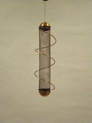 "BIRD QUEST 17"" COPPER PEANUT SPIRAL BIRD FEEDER"