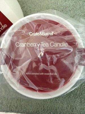 Crate & Barrel Tea Candle - Cranberry