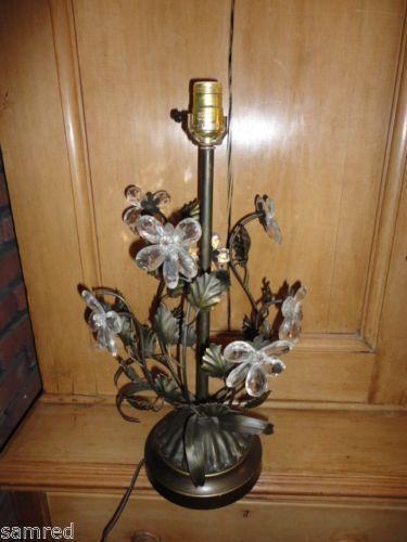 Vintage Metal Flower Lamp Ebay