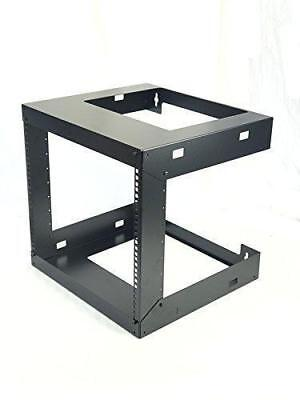 15 Inch Open Frame (9U Wall Mount Open Frame 19'' Server Equipment Rack Threaded 15 inch depth)