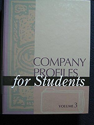Company Profiles For Students V3  Nov 01  2002  Gale Group