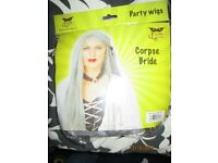 CORPSE BRIDE LONG FANCY DRESS WIG GREAT FOR PARTY OR HEN DO