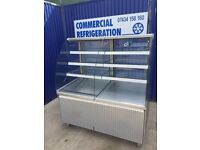 Open Fronted Fronted Patisserie Display Fridge Serve Over Cake Drinks Chiller