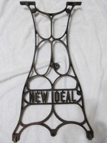 Antique iron table legs ebay for Old iron table legs