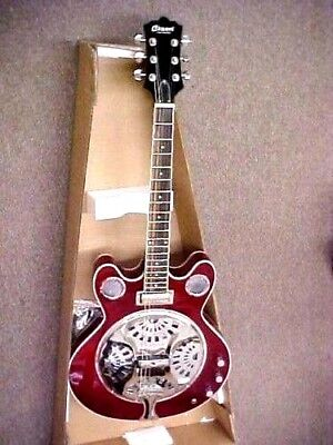 NEW HIGH QUALITY CANDY APPLE RED ELECTRIC ACOUSTIC RESONATOR GUITAR
