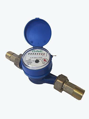 DAE AS200U-75 Water Meter, 3/4 inch NPT Couplings, Measuring in Gallons