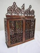 Antique Wall Display Cabinet