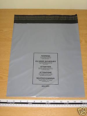10 x Medium Large Mail Bags Parcel Sacks Grey approx 300mm x 350mm 12 x 14 A05