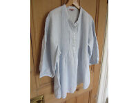 Ladies Phase Eight linen shirt / tunic / blouse size 14-Pale blue-Never worn
