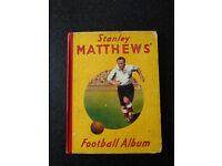 Stanley Matthews Football Album from 1949. For Sale